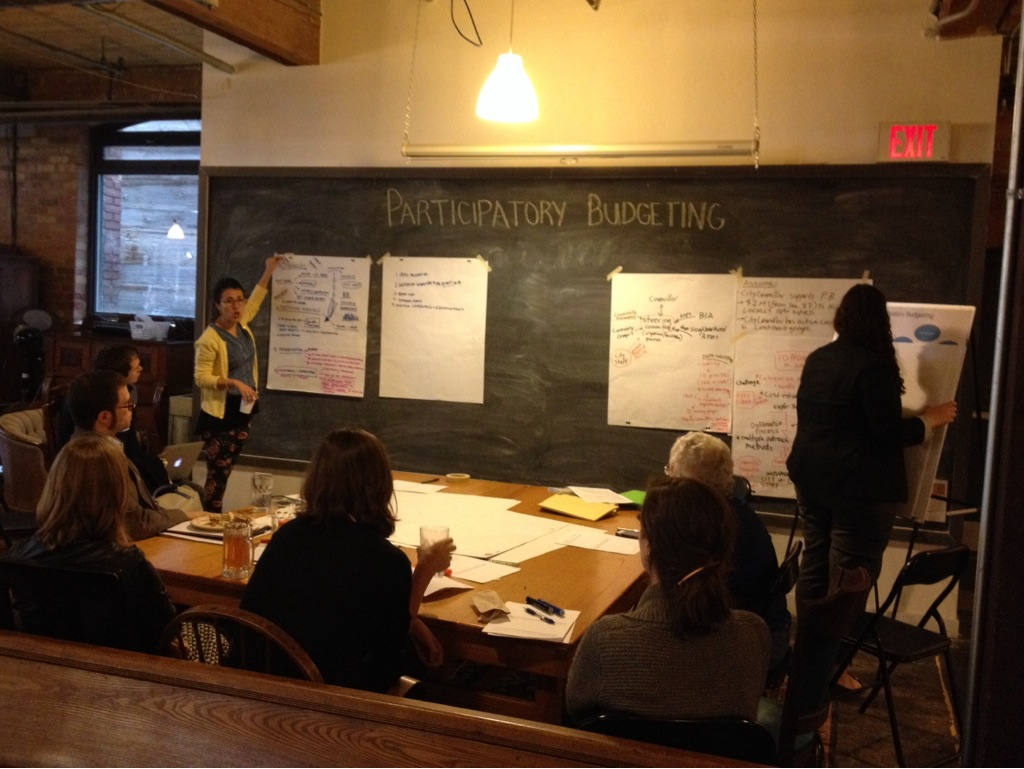 Better Budget Day participants discuss Participatory Budgeting