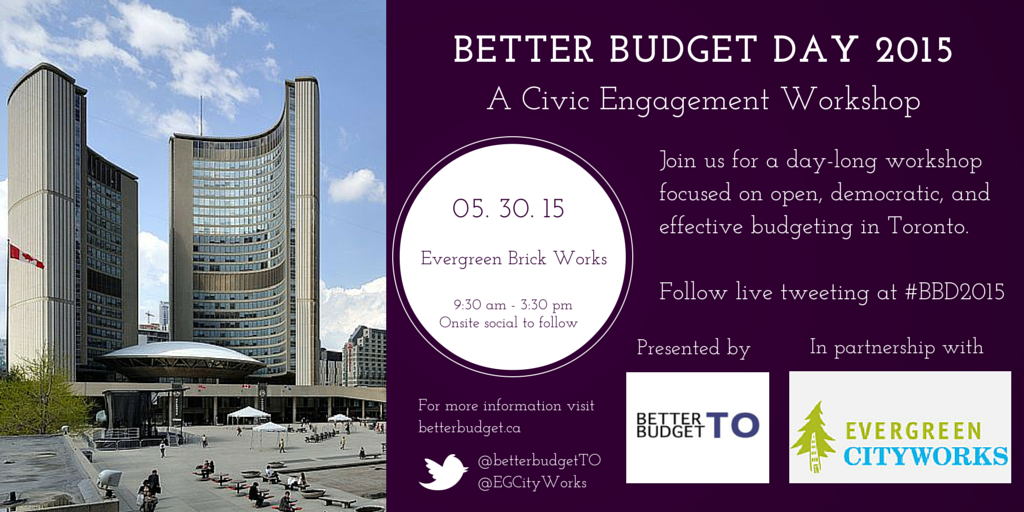 Join us on May 30, 2015 for Better Budget Day 2015